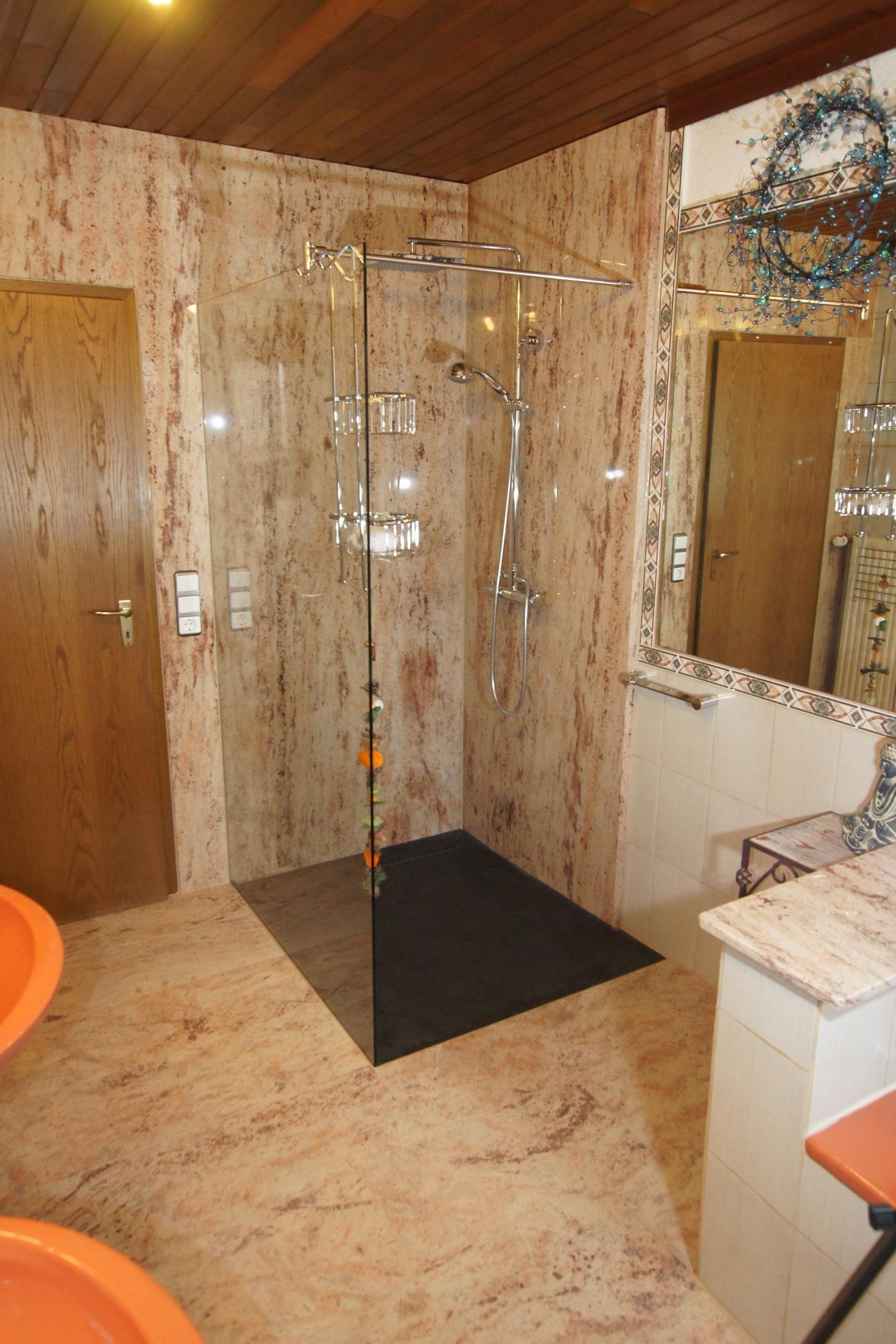 begehbare dusche – natursteingalerie becker