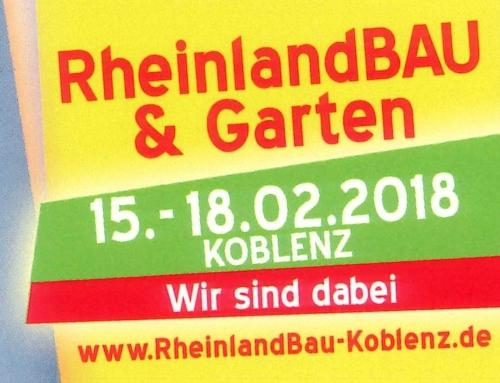 RheinlandBau & Garten 2018 – Wir sind dabei!